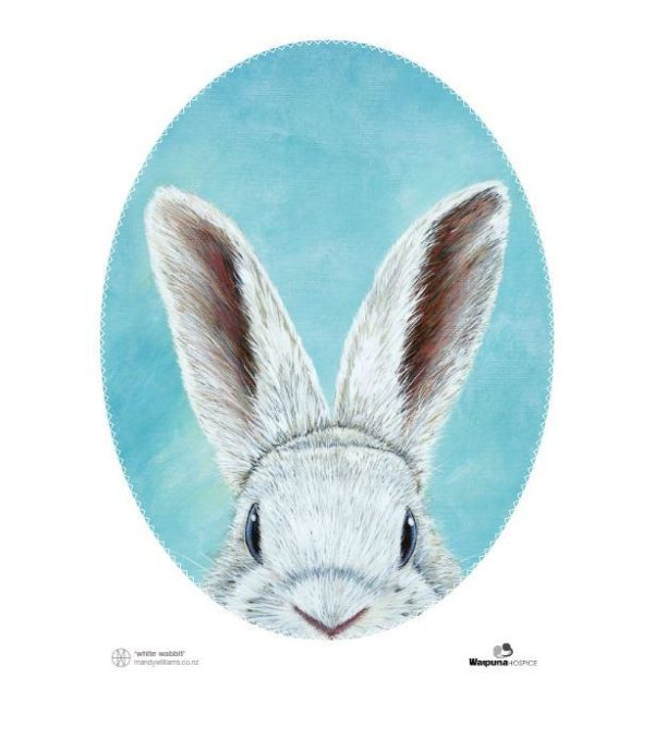 White Wabbit - Tea Towel